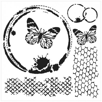 """Crafter\'s Workshop Template 6\""""X6\"""" - Butterfly Collage"""