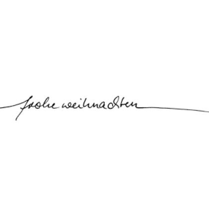"""Karten-Kunst Schriftzug \""""Frohe Weihnachten\"""" (Anne)"""