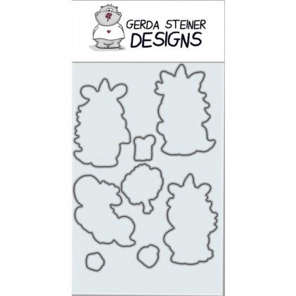 Gerda Steiner Design - Moody Unicorns Stanzschablonen-Set