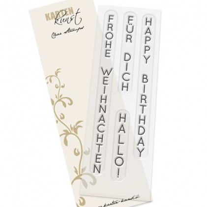 Karten-Kunst Clear Stamp Set - Vertikale Worte II