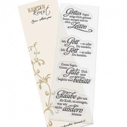 """Karten-Kunst Clear Stamp Set - Weise Worte """"Glaube"""""""