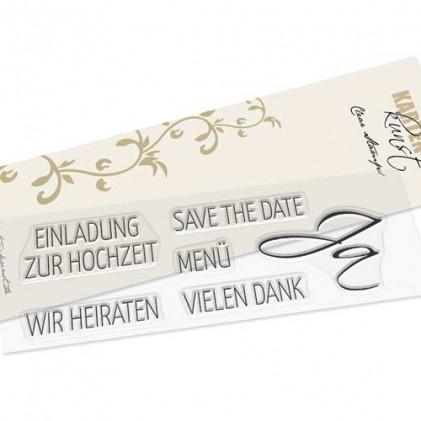 Karten-Kunst Clear Stamp Set - Hochzeit