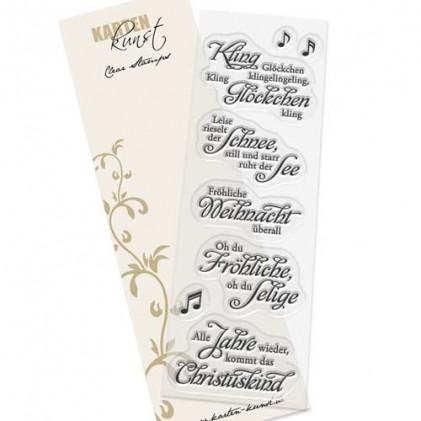 """Karten-Kunst Clear Stamp Set - Weise Worte """"Weihnachtslieder"""""""