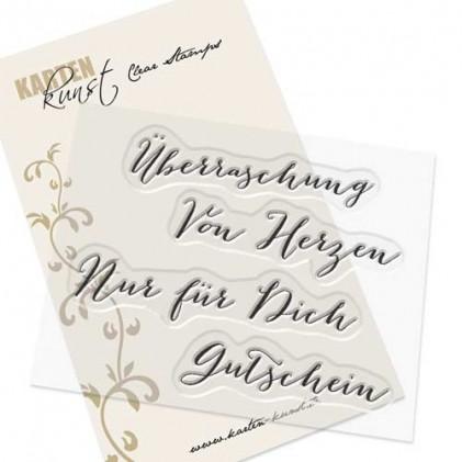 "Karten-Kunst Clear Stamp Set - Große Worte ""Überraschung"""