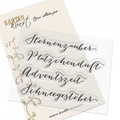 "Karten-Kunst Clear Stamp Set - Große Worte ""Sternenzauber"""