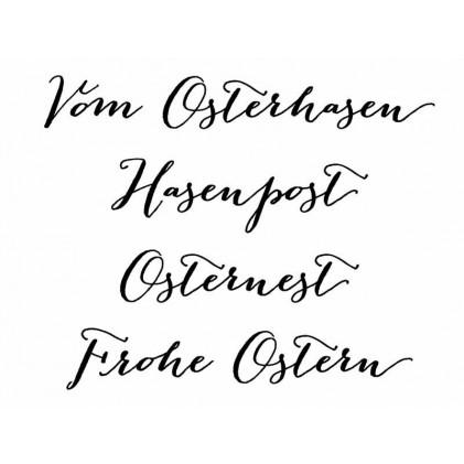 """Karten-Kunst Clear Stamp Set - Große Worte """"vom Osterhasen"""""""
