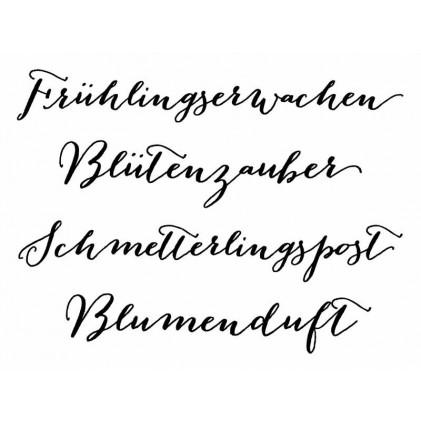 "Karten-Kunst Clear Stamp Set - Große Worte ""Frühlingserwachen"""