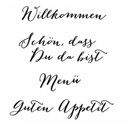 """Karten-Kunst Clear Stamp Set - Große Worte """"Willkommen"""""""
