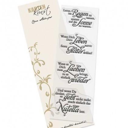 """Karten-Kunst Clear Stamp Set - Weise Worte """"Gute Laune"""""""