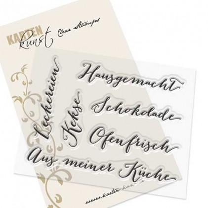 """Karten-Kunst Clear Stamp Set - Große Worte """"Hausgemacht"""""""