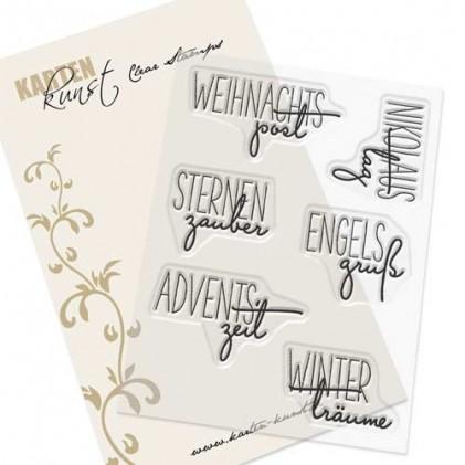 """Karten-Kunst Clear Stamp Set - Capri """"Weihnachtspost"""""""