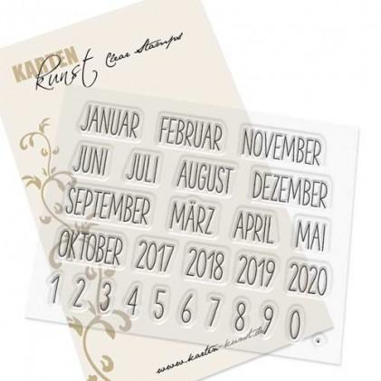Karten-Kunst Clear Stamp Set - Kalender Nr. 1