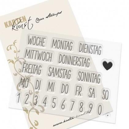 Karten-Kunst Clear Stamp Set - Kalender Nr. 2