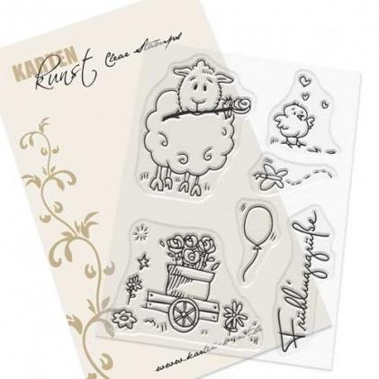 Karten-Kunst Clear Stamp Set - Viecher im Frühling