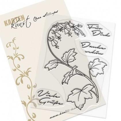 Karten-Kunst Clear Stamp Set - Glockenblumen-Grüße