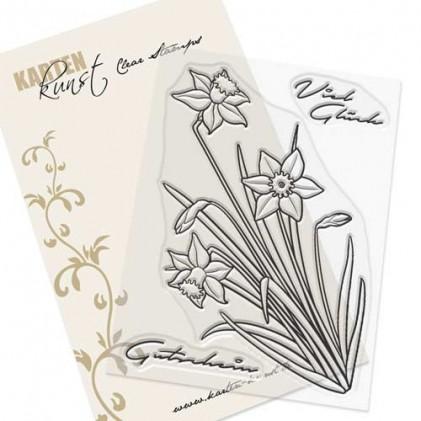 Karten-Kunst Clear Stamp Set - Narzissen-Grüße