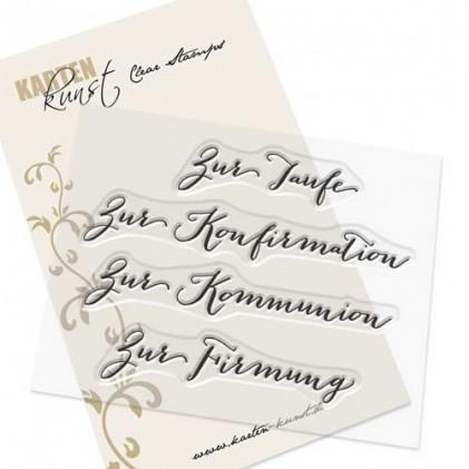 """Karten-Kunst Clear Stamp Set - Große Worte """"Christlich"""""""