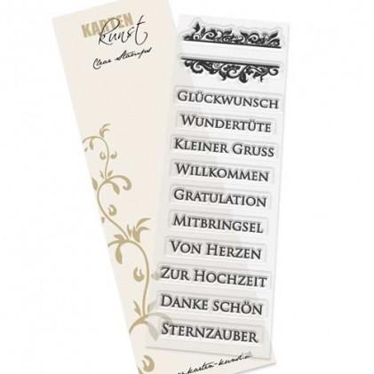 Karten-Kunst Clear Stamp Set - Noch mehr eingerahmte Worte