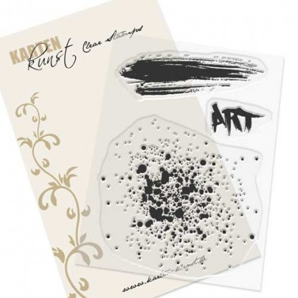 Karten-Kunst Clear Stamp Set - Splatters Art