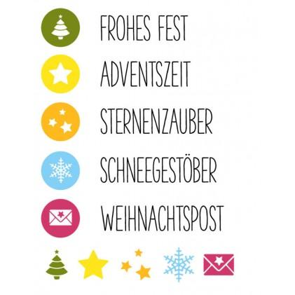 Karten-Kunst Clear Stamp Set - Symbolisch zu Weihnachten