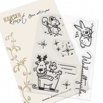 Karten-Kunst Clear Stamp Set - Viecher im Winter
