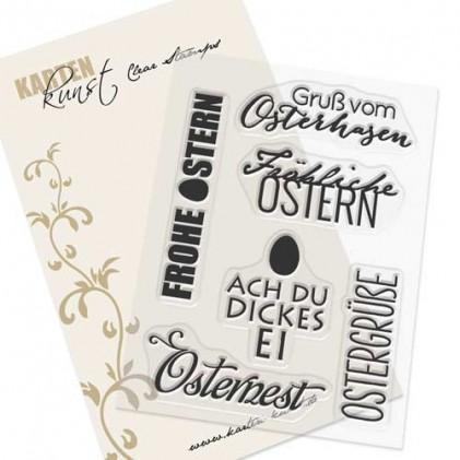 Karten-Kunst Clear Stamp Set - Typomix Ostern