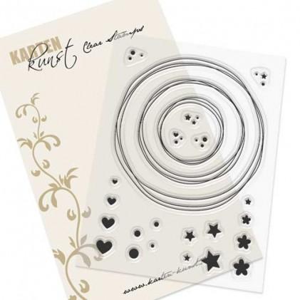 Karten-Kunst Clear Stamp Set - Kränze & Kreise