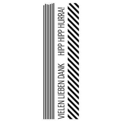 Karten-Kunst Clear Stamp Set - Washi-Tape Vielen lieben Dank