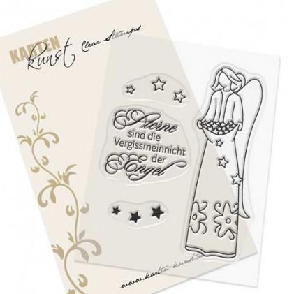 Karten-Kunst Clear Stamp Set - Sternen-Engel