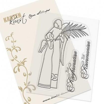 Karten-Kunst Clear Stamp Set - Engel zur Konfirmation und Kommunion