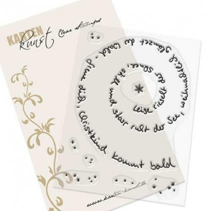 Karten-Kunst Clear Stamp Set - Spiral-Text Schnee