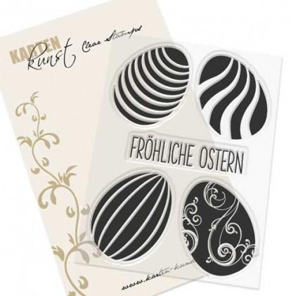 Karten-Kunst Clear Stamp Set - Ostereier