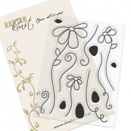 Karten-Kunst Clear Stamp Set - Scribble Daisies