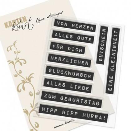 Karten-Kunst Clear Stamp Set - Labelwriter zum Geburtstag