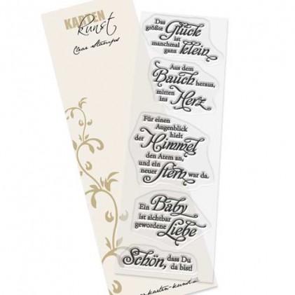 Karten-Kunst Clear Stamp Set - Weise Worte Das größte Glück