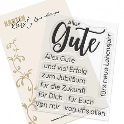 Karten-Kunst Clear Stamp Set - Riesige Wünsche Alles Gute