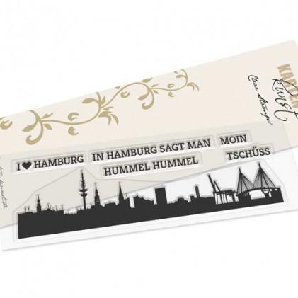 Karten-Kunst Clear Stamp Set - Skyline Hamburg