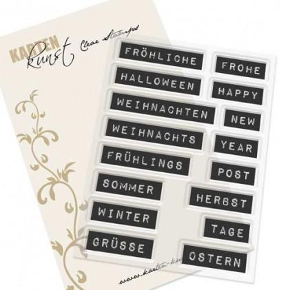 Karten-Kunst Clear Stamp Set - Labelwriter fürs ganze Jahr