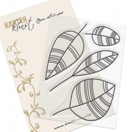 Karten-Kunst Clear Stamp Set - Scribble Leaves