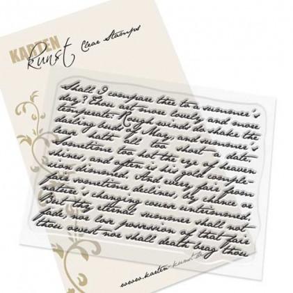 Karten-Kunst Clear Stamp Set - Script Background