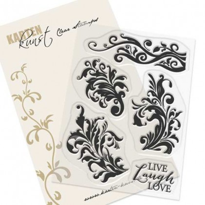 Karten-Kunst Clear Stamp Set - Alte Randschnörkel