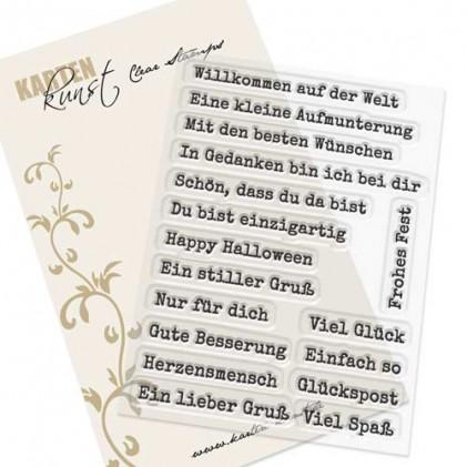 Karten-Kunst Clear Stamp Set - Aus der Schreibmaschine 2