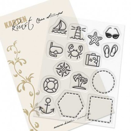Karten-Kunst Clear Stamp Set - Mini Frames At the Sea