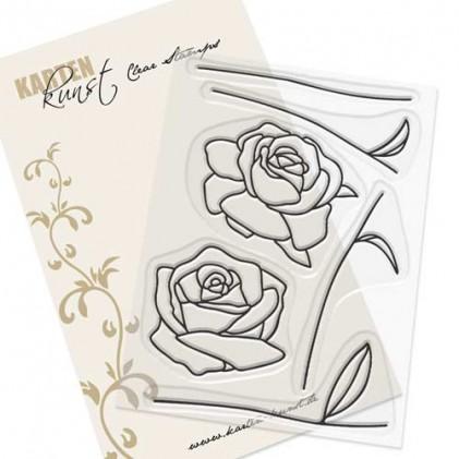 Karten-Kunst Clear Stamp Set - Scribble Roses