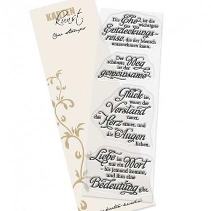 Karten-Kunst Clear Stamp Set - Weise Worte zur Hochzeit