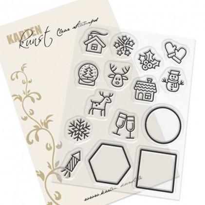 Karten-Kunst Clear Stamp Set - Mini Frames Winter