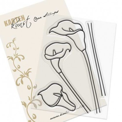 Karten-Kunst Clear Stamp Set - Scribble Callas