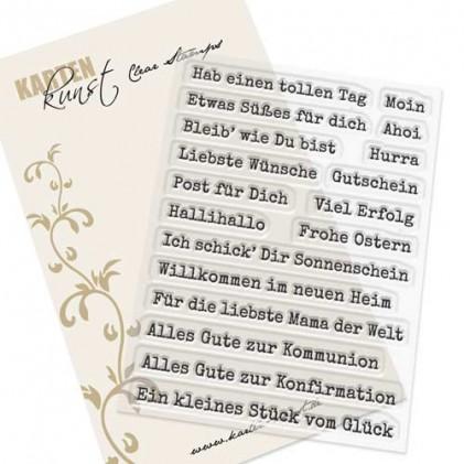 Karten-Kunst Clear Stamp Set - Aus der Schreibmaschine 3