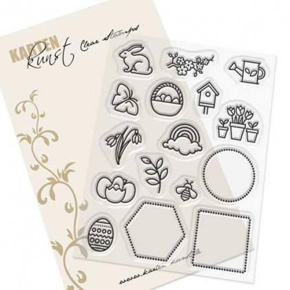 Karten-Kunst Clear Stamp Set - Mini Frames Spring