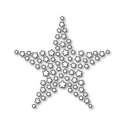 Karten-Kunst Stanzschablone - Star of Stars